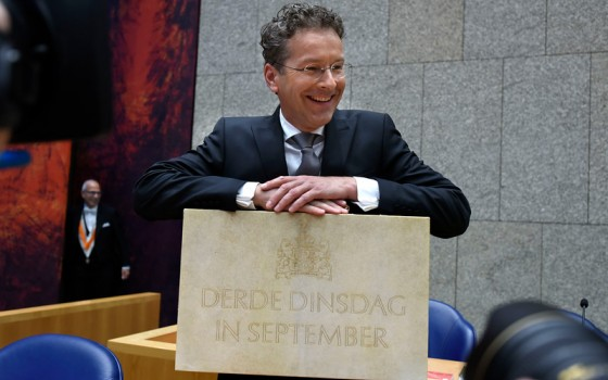 Minister Dijsselbloem van Financiën