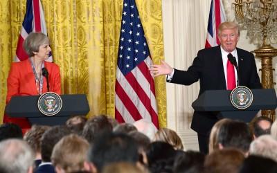 Premier May en president Trump