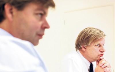 Sander Zondag van Obam en Mark Glazener van Robeco