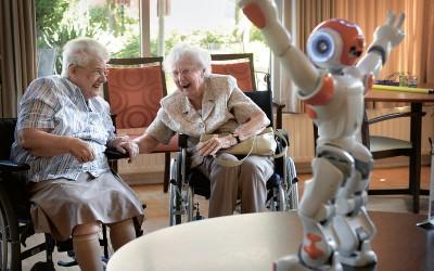 Zorgrobot in actie