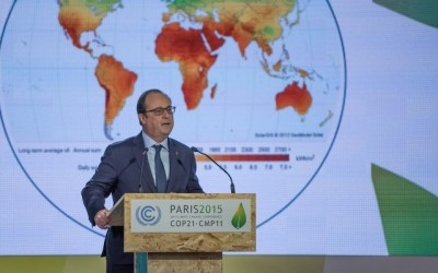 President Hollande opent klimaattop in Parijs
