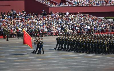Militaire parade op Plein van de Hemelse Vrede