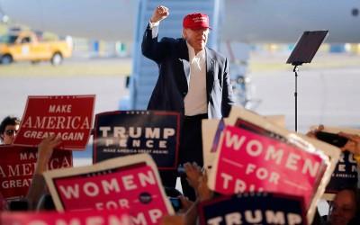 Donald Trump op campagne