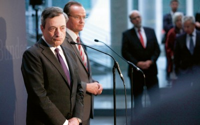 ECB-president Mario Draghi (op archiefbeeld)