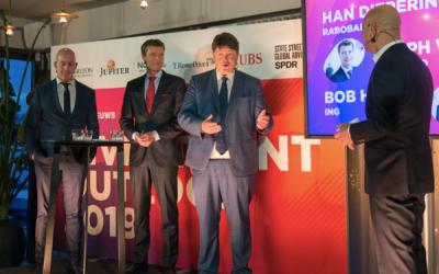 Homan, Wessels en Dieperink tijdens Outlook-debat