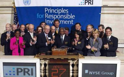 Lancering van de UN PRI op de beursvloer