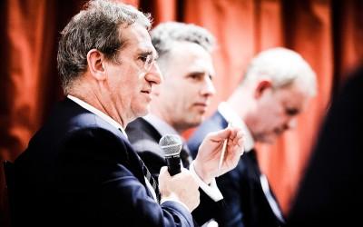Lex Hoogduin tijdens een debat