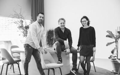 De oprichters van Blanco - v.l.n.r. Dennis Overbeeke, Joost Walgemoed en Bernadette Wijnings
