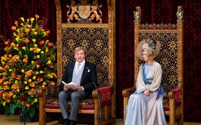 Koning spreekt Troonrede uit