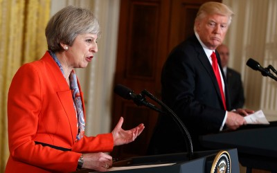Premier Theresa May en president Donald Trump