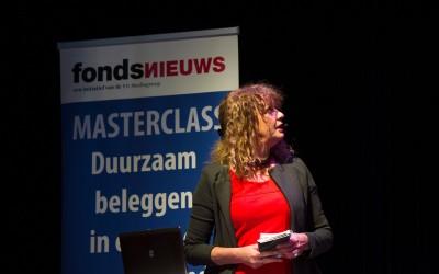 Caroline Leenders tijdens de masterclass