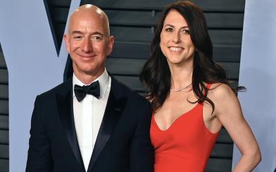 Jeff Bezos en zijn ex-echtgenote MacKenzie