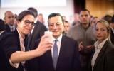 Mario Draghi op de foto