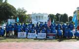 Protest tegen genocide Oeigoeren
