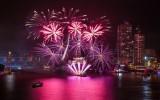 Met vuurwerk het jaar uit