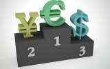 Yen, euro, dollar