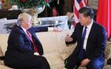 Donald Trump op bezoek naar Xi Jinping