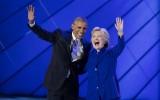 President Barack Obama en Hillary Clinton