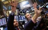 Handelaren op de vloer van Wall Street