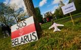 Protest bij ambassade Wit-Rusland