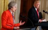 Premier Theresa May en president Donald Trump