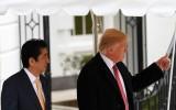 President Trump met de Japanse premier Abe
