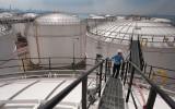 Olie opslagtanks