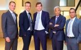 Het Obam-team, met Sander Zondag in het midden