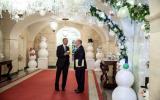 President Obama met zijn veiligheidsadviseur Tom Donilon