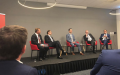 Morningstar-debat - v.l.n.r. Pim Poppe - Probability and Partners, Wouter Weijand - Providence Capital, Menno Middeldorp - Rabobank, Wim van Zwol - Vanguard, Alain van der Heijden - Kempen Capital Management