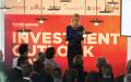 Barbara Baarsma, Rabobank, tijdens Outlook-event